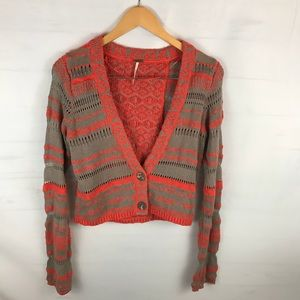 Free People orange Tan Sweater Sz Medium